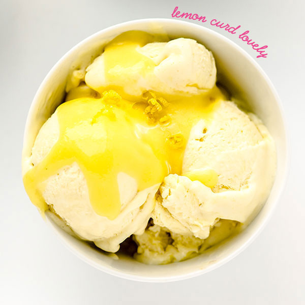 No Churn lemon curd homemade ice cream - Merry Mag Summer