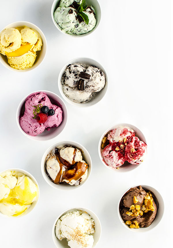 9 no-churn homemade ice-cream recipes / Merry Mag Summer