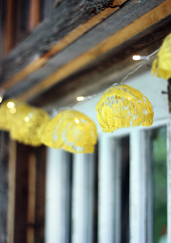 DIY Lace String Lights - The Sweet Escape