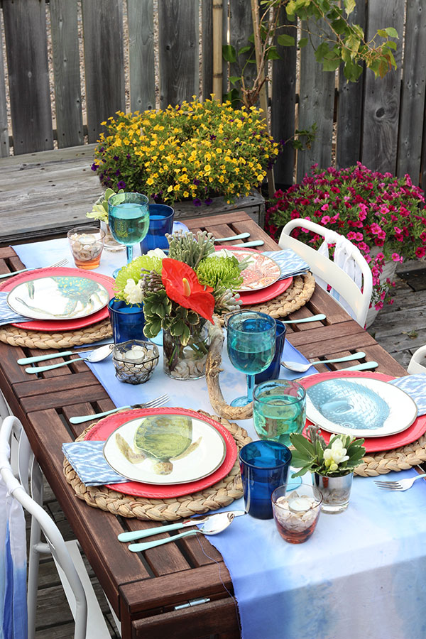 Under the Sea Outdoor Dinner Party Tablescape
