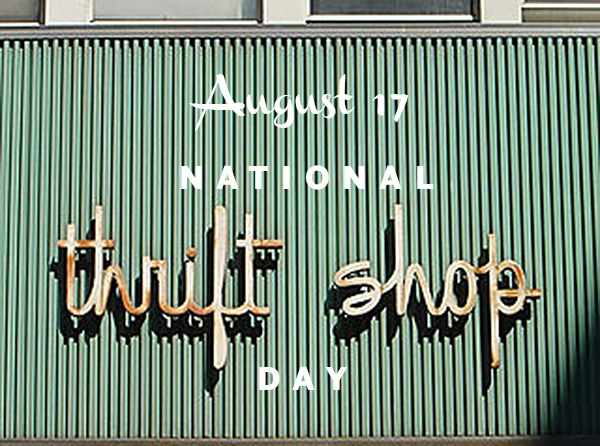 thrift shop, vintage, sign, national thrift shop day