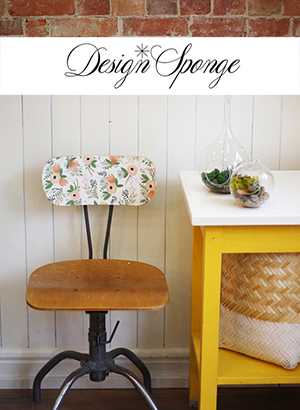 design sponge, chair makeover, vintage chair, modge podge
