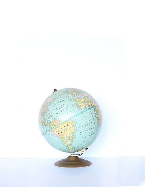 vintage globes, national thriftshop day