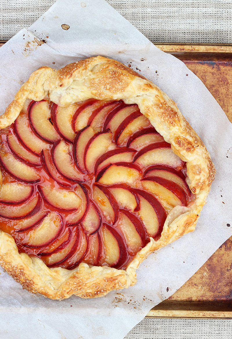 plum galette, recipe, tart, stone fruit