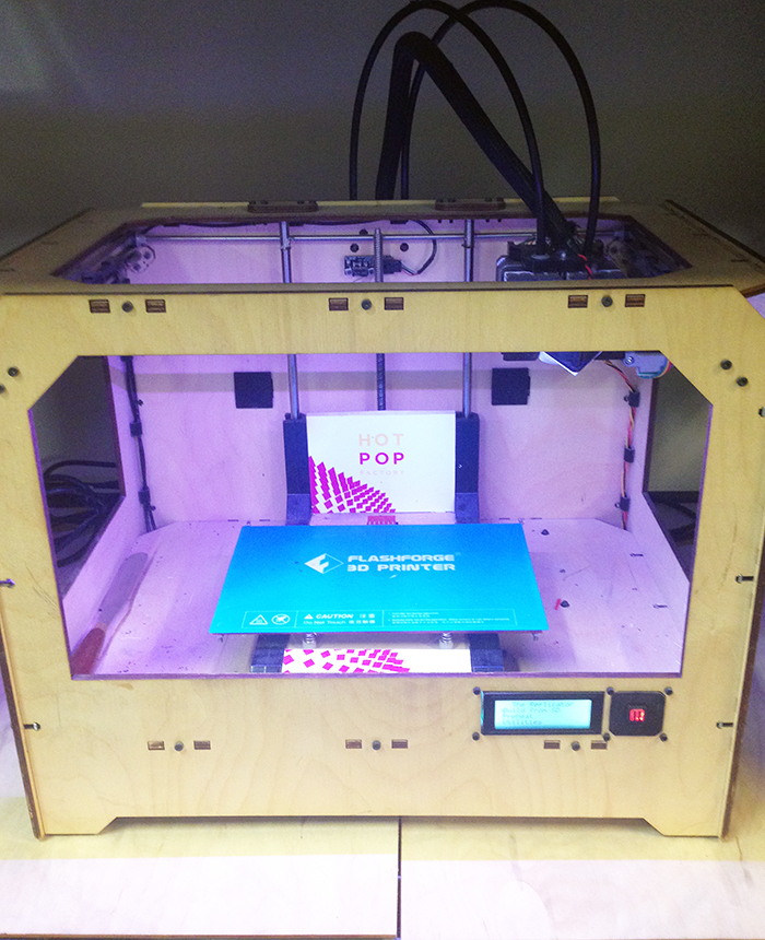 Hot Pop Factory 3D printing