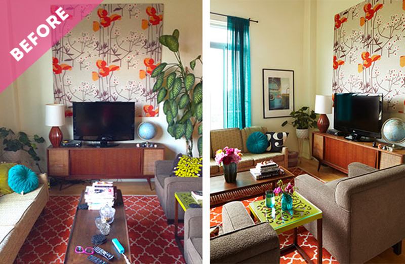 spaces: my loft living room makeover - the sweet escape creative