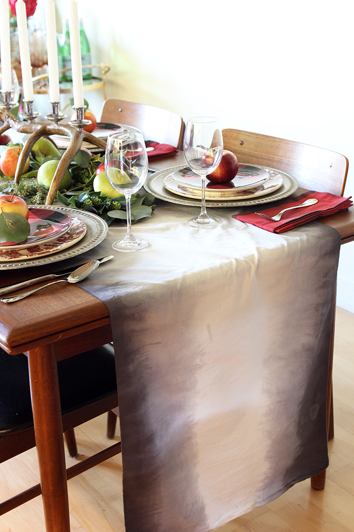 Pottery Barn Fall Thanksgiving Tablescape by The Sweet Escape, fall, table setting, thanksgiving table, table setting ideas, plaid table setting