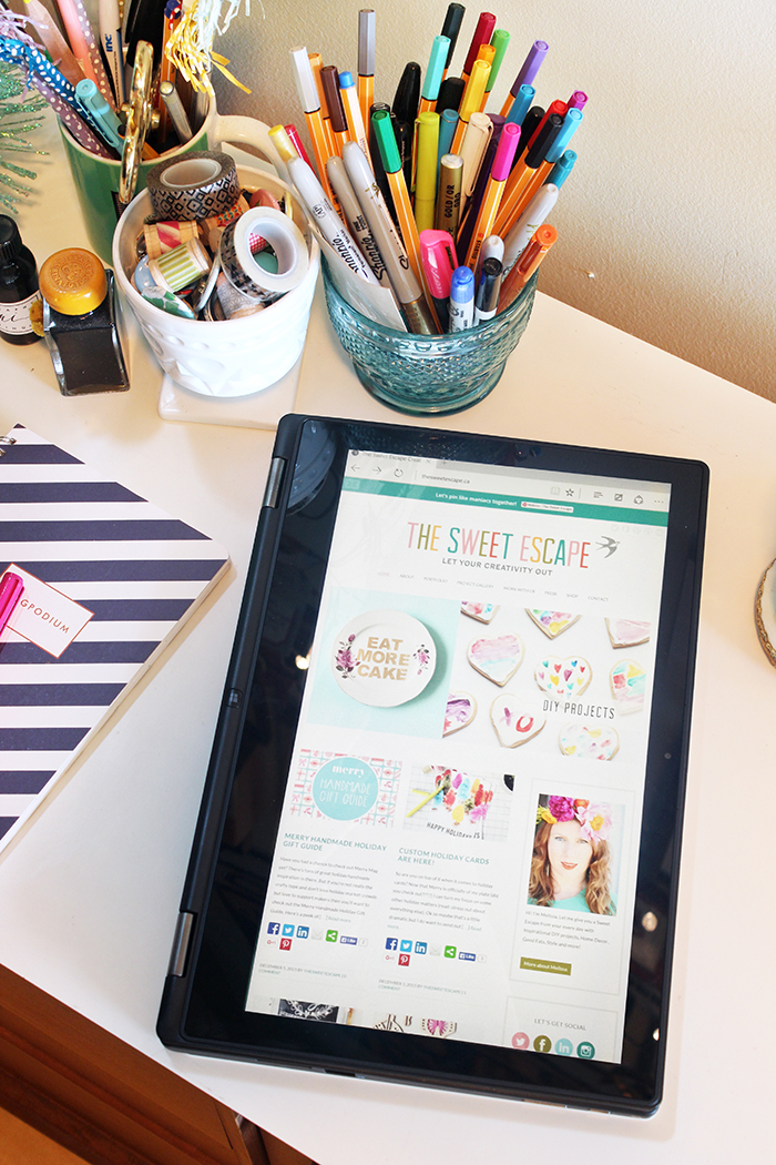 Dell Inspiron 2-in-1 laptop review by The Sweet Escape
