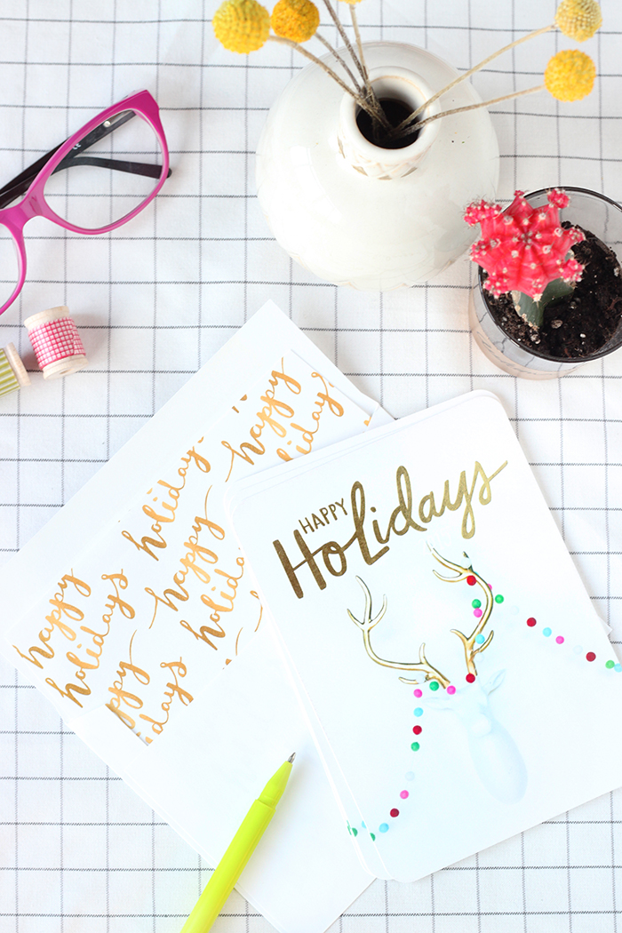 Shutterfly Gold Foil Stamped Holiday Card with Liner