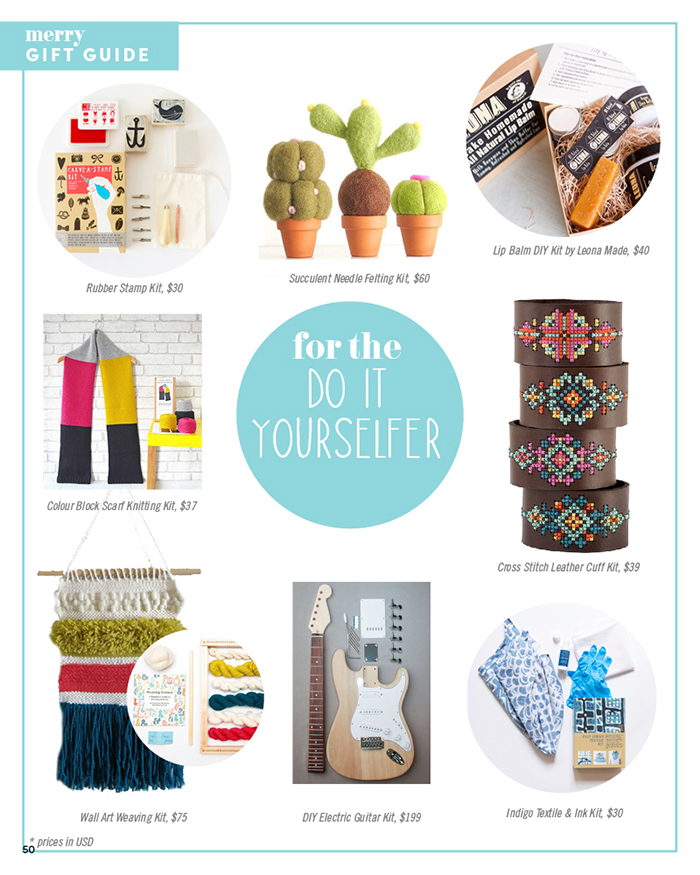 Merry Mag Handmade holiday gift guide - For the DIY'er
