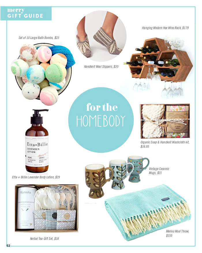 Merry Mag Handmade holiday gift guide - for the homebody