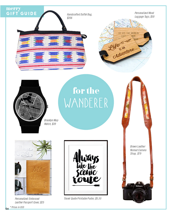 Merry Mag Handmade holiday gift guide - for the wanderer