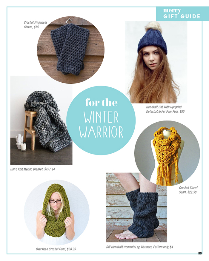Merry Mag Handmade holiday gift guide - cozy knits
