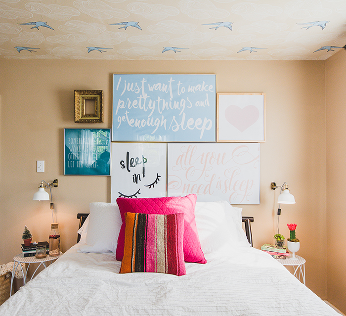 Before & After: Custom Art Wall in the Bedroom