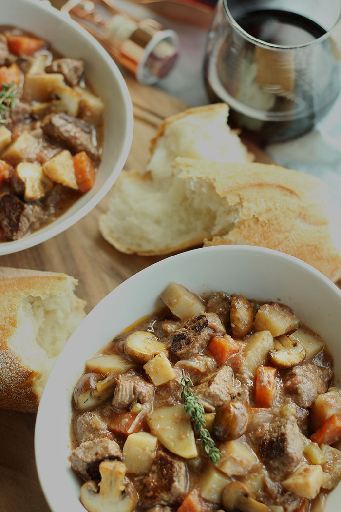 Red Wine Crock Pot Beef Stew by The Sweet Escape