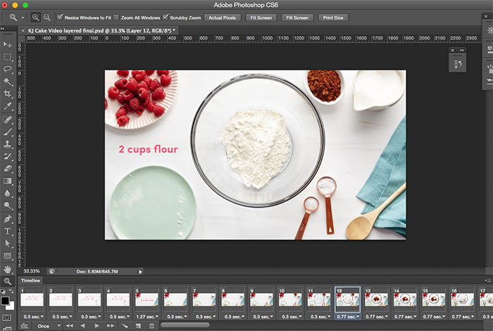 cake-stop-motion-photoshop-frame-timeline