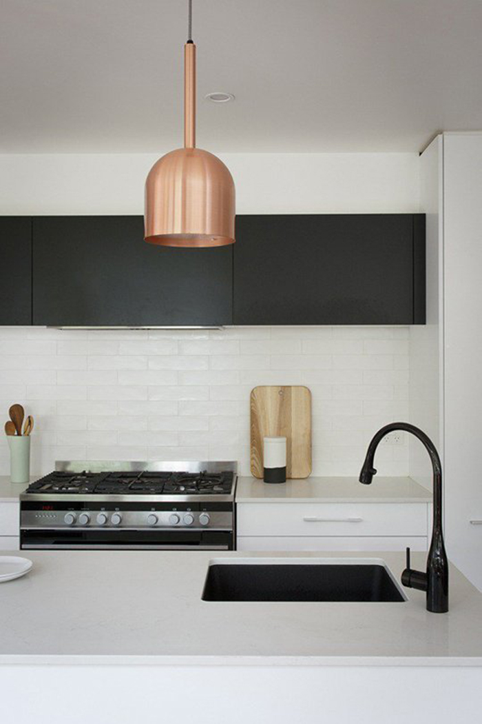 matte matte black kitchen design trend by The Sweet Escape for Apartment Therapy kitchen 3