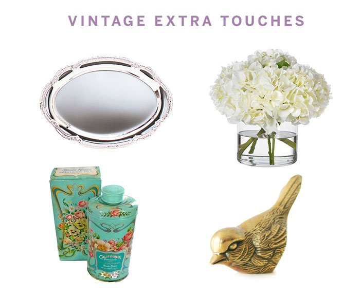 Bathroom Refresh: Get the look, Vintage Style by The Sweet Escape