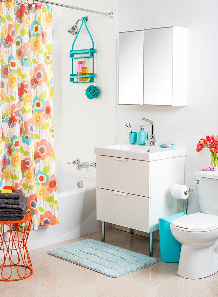 Bathroom Refresh Get the Look: Bold and Colorful by The Sweet Escape
