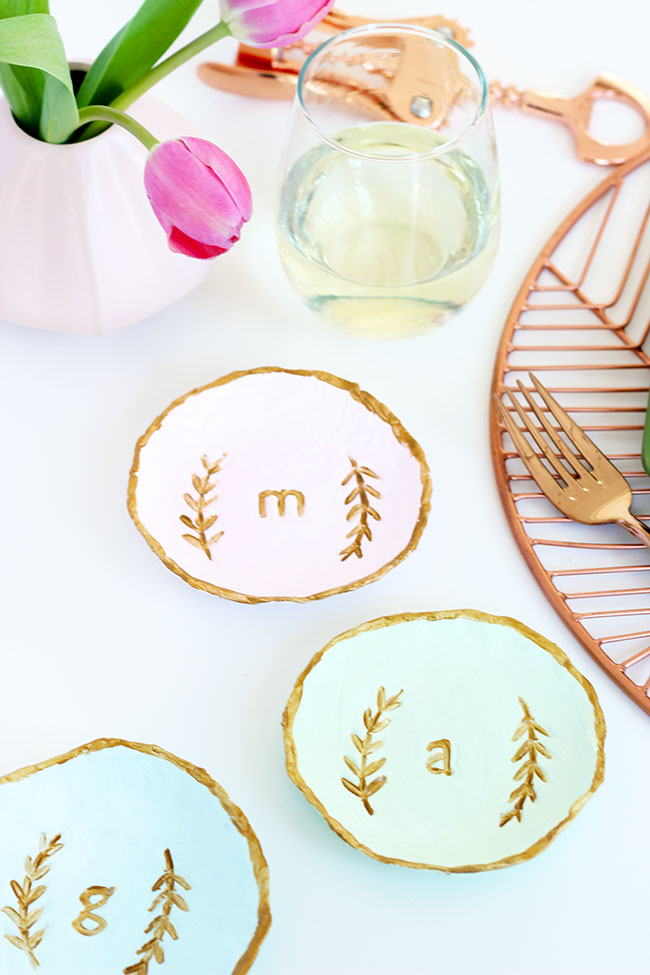 DIY Personalized Clay Dish Place Setting by The Sweet Escape