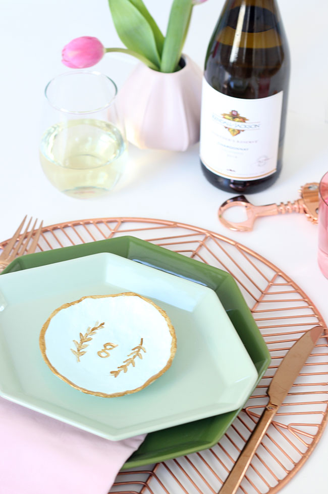 DIY Personalized Clay Dish Place Setting