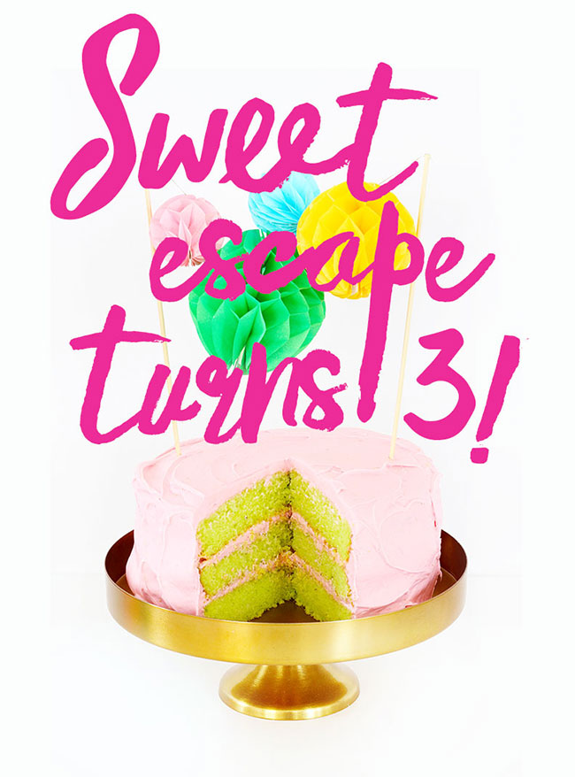 Sweet Escape turns 3: Strawberry Limeaid birthday cake recipe