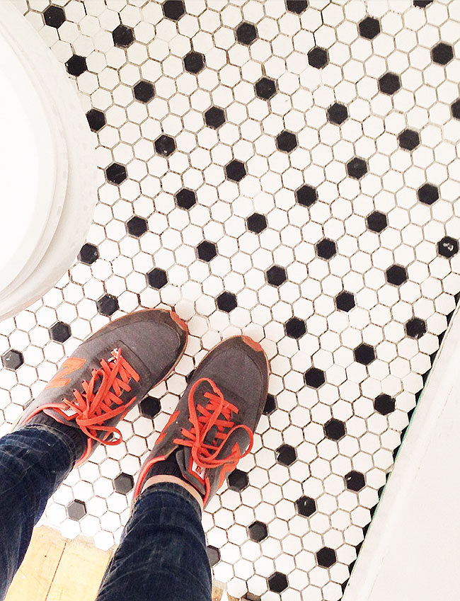 Sweet Escape Studio Bathroom Makeover Tile Floor
