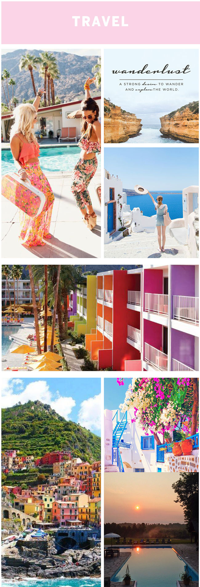 Creating a vision board - travel: by The Sweet Escape