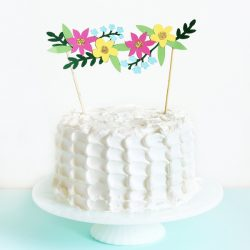 Paper Cut Floral Garland Cake Topper by The Sweet Escape