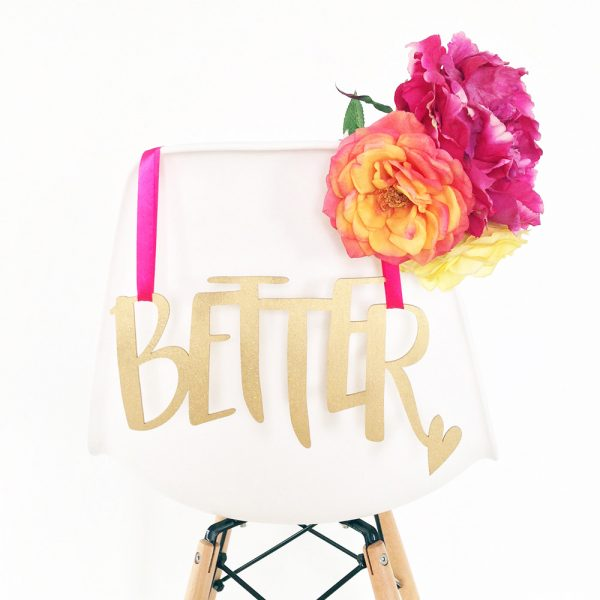 Better Together wedding chair hangers by The Sweet Escape Occasions