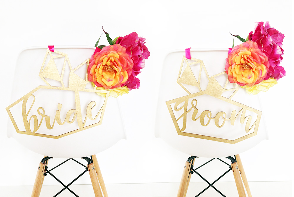 Bride Groom Modern Chair Hangers by The Sweet Escape