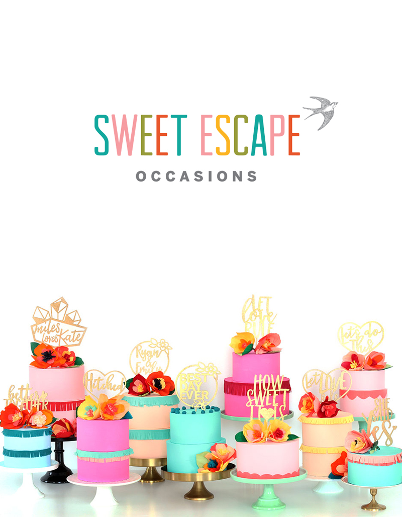 Sweet Escape Occasions Wedding Cake Toppers