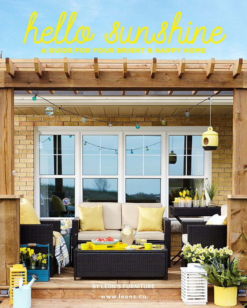 Hello Sunshine Summer Home Decor magazine by Leon's Furniture