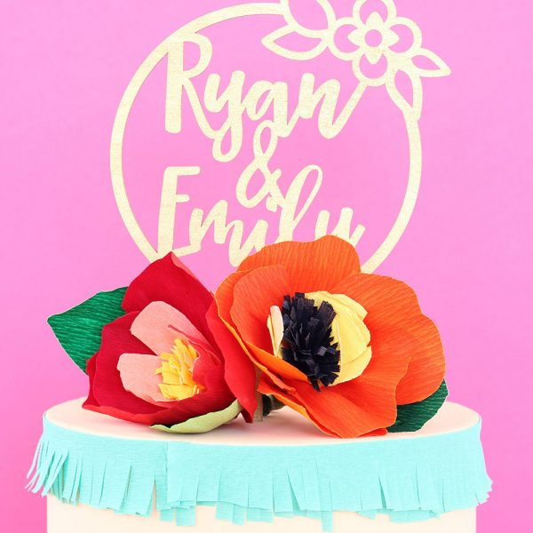 Custom Name Wedding Cake Topper by Sweet Escape Occasions