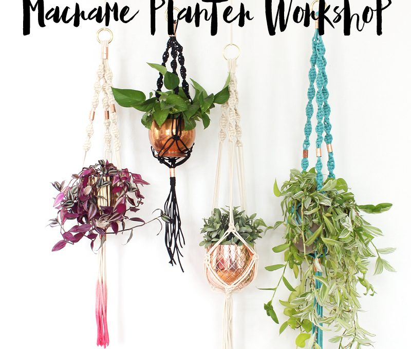 DIY Macrame Planter Workshop