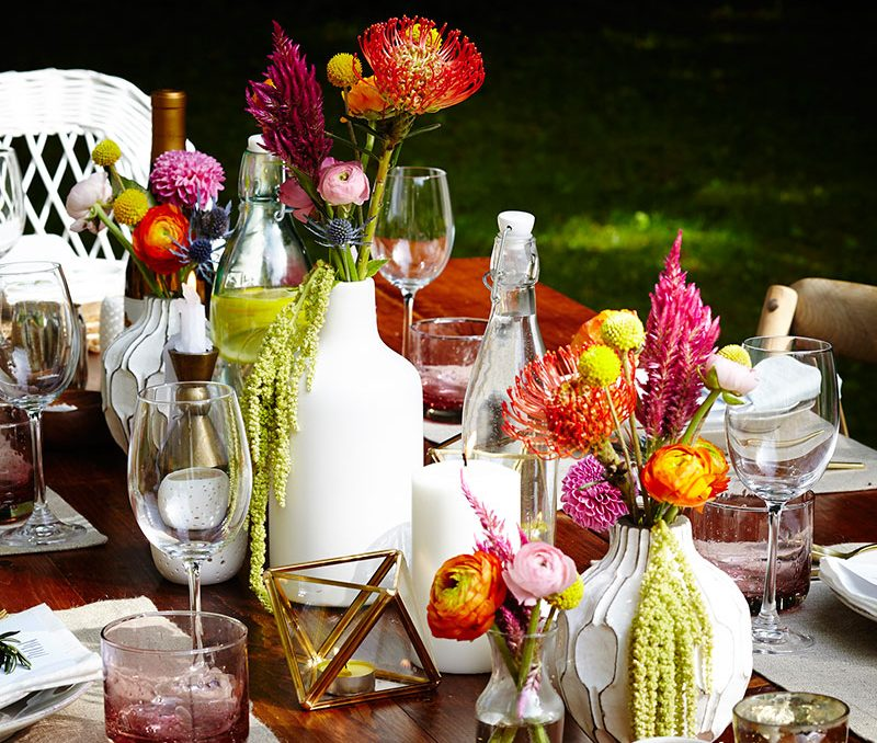 Outdoor Summer Dinner Party in the country
