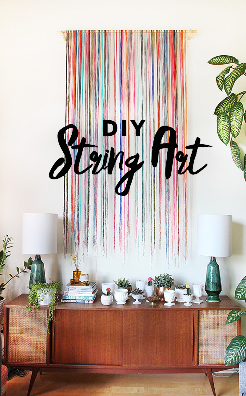 Diy string wall art the sweet escape creative studio Cool wall signs