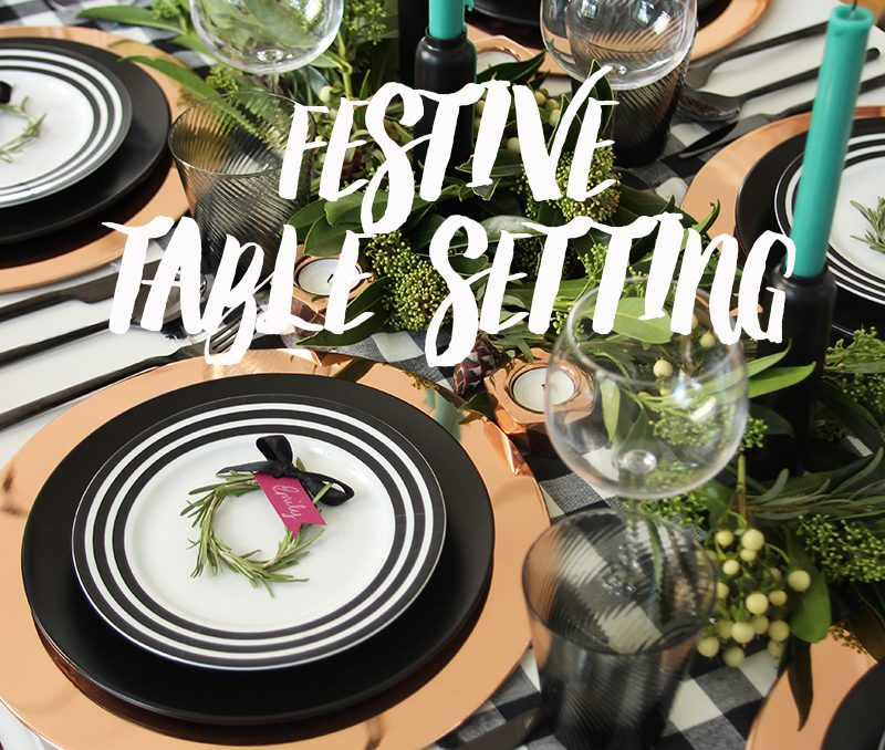 Get the Look: Modern Festive Table Setting