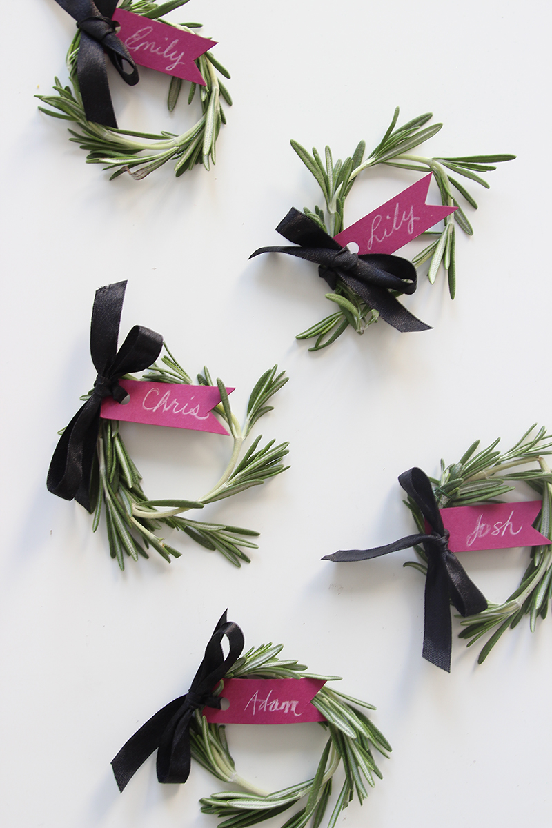 DIY rosemary name setting by The Sweet Escape