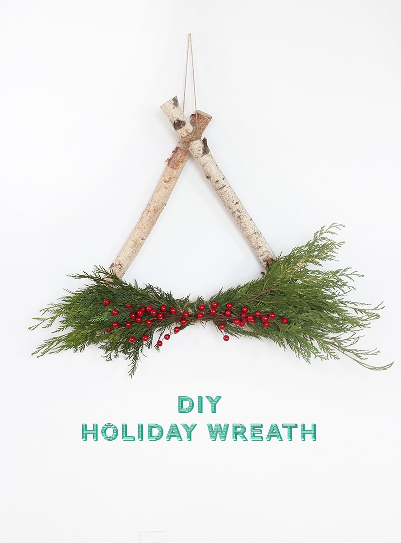 DIY Triangle Holiday Wreath by The Sweet Escape