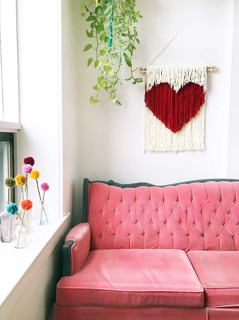 DIY Heart String Wall Art by the Sweet Escape