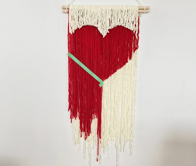 Diy Heart String Wall Hanging The Sweet Escape Creative