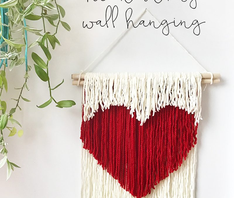 DIY Heart String Wall Hanging