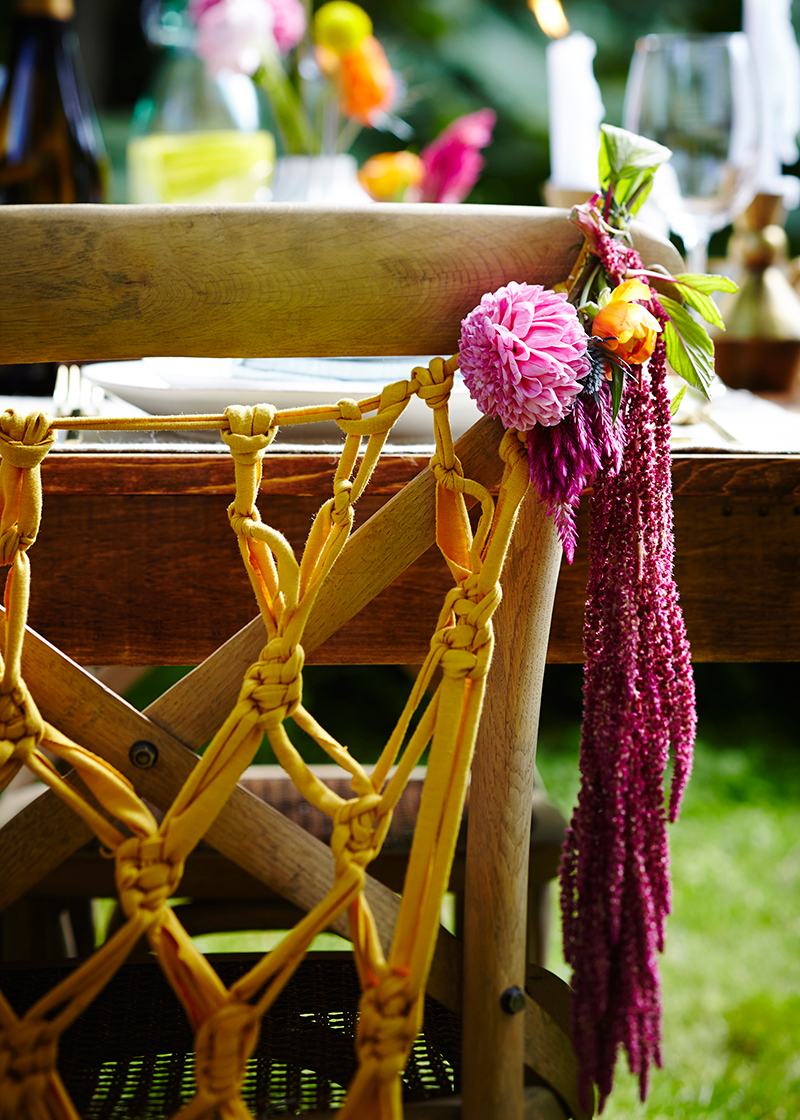 macrame diy wedding chair hanging