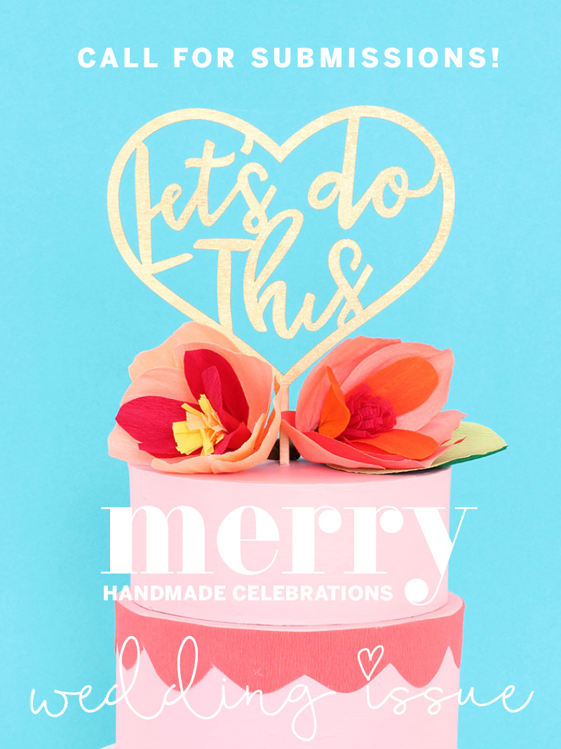 Merry Mag Handmade Celebrations DIY wedding issue