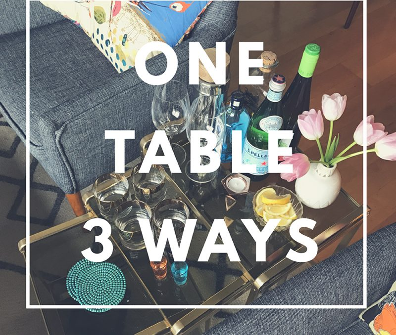 Side Table Styling: One table, 3 ways
