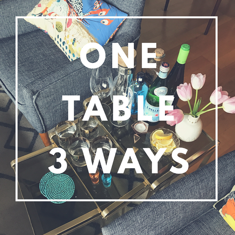 One table, 3 ways - exploring styling with The Sweet Escape