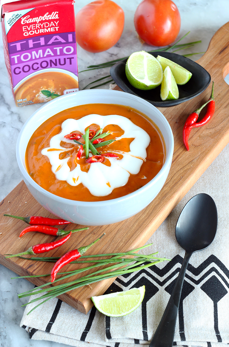 Campbells Thai Tomato Coconut everyday gourmet soup