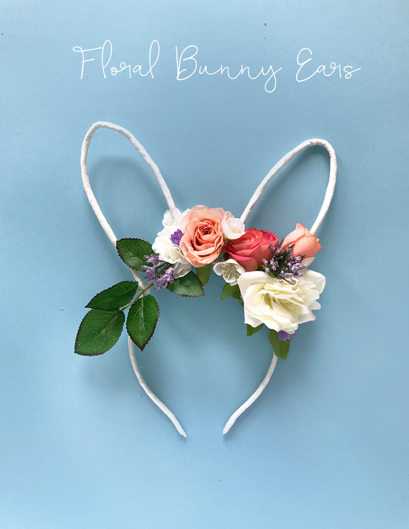 DIY Easter Floral Bunny Ears by The Sweet Escape