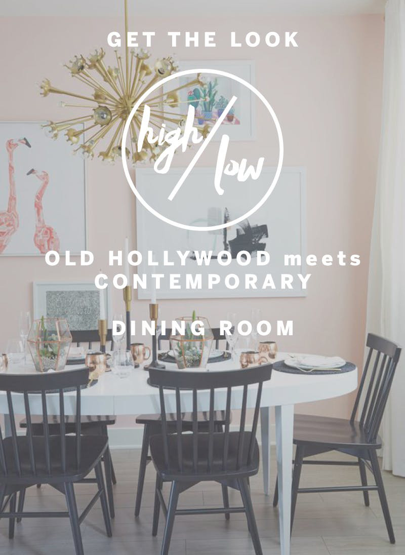 HIgh Low Dining Room Look